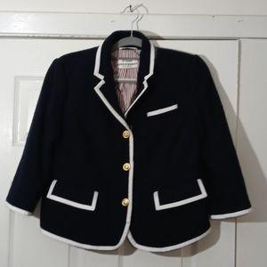 Neiman Marcus navy ( Thom Browne ) women's blazer.